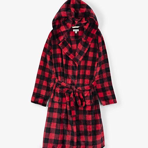 Buffalo Plaid Adult Fleece Robe