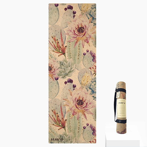 Botanicals Cork Yoga Mat by Scoria | 4.5mm