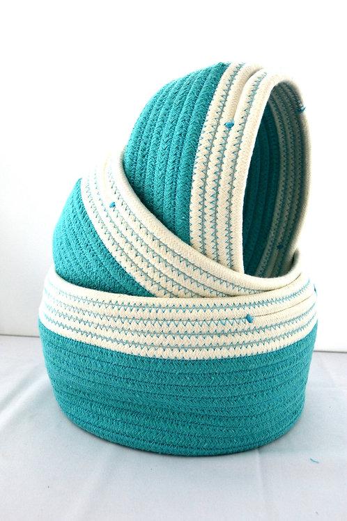 Basket Storage - Turquoise