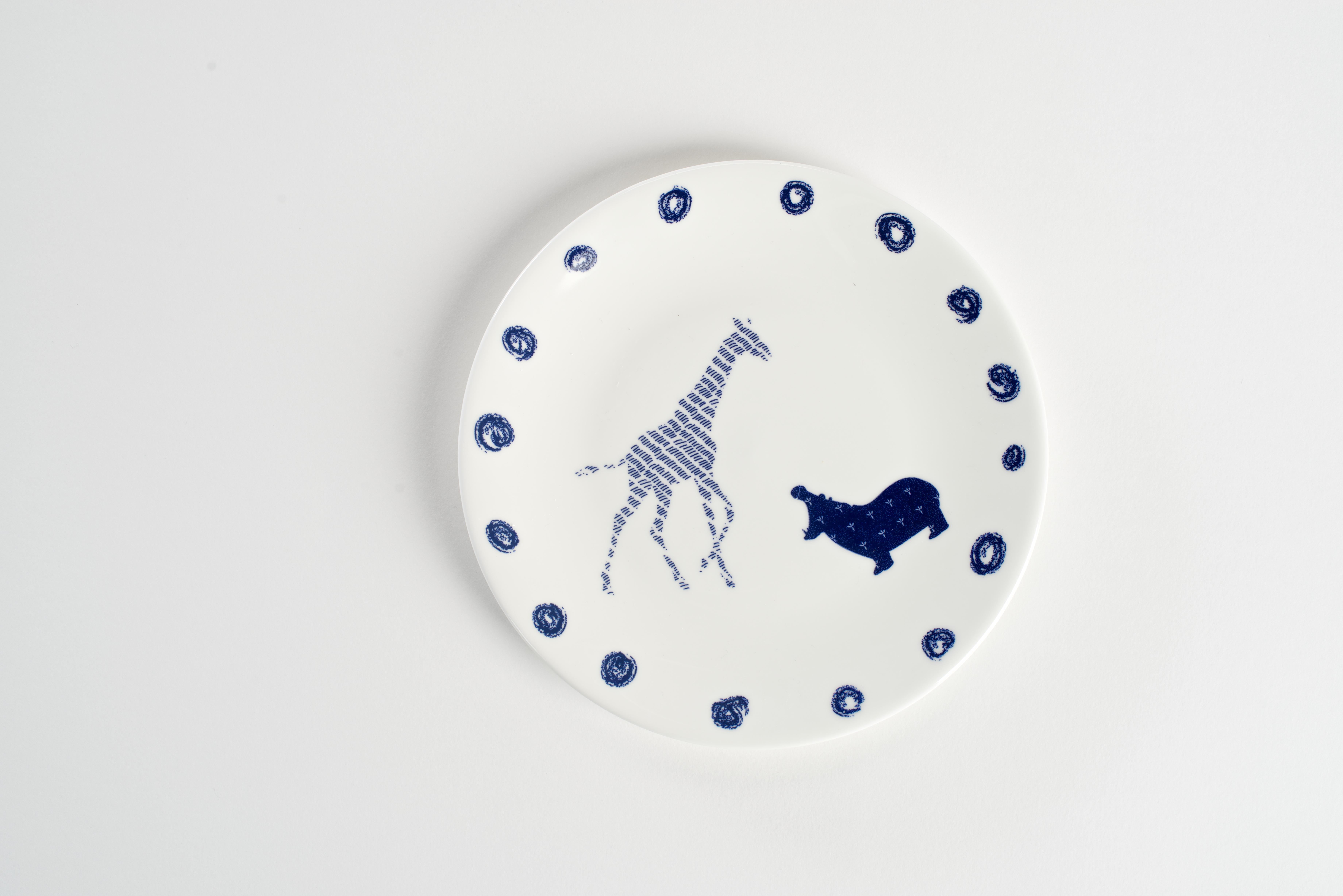 Giraffe Hippo Plate