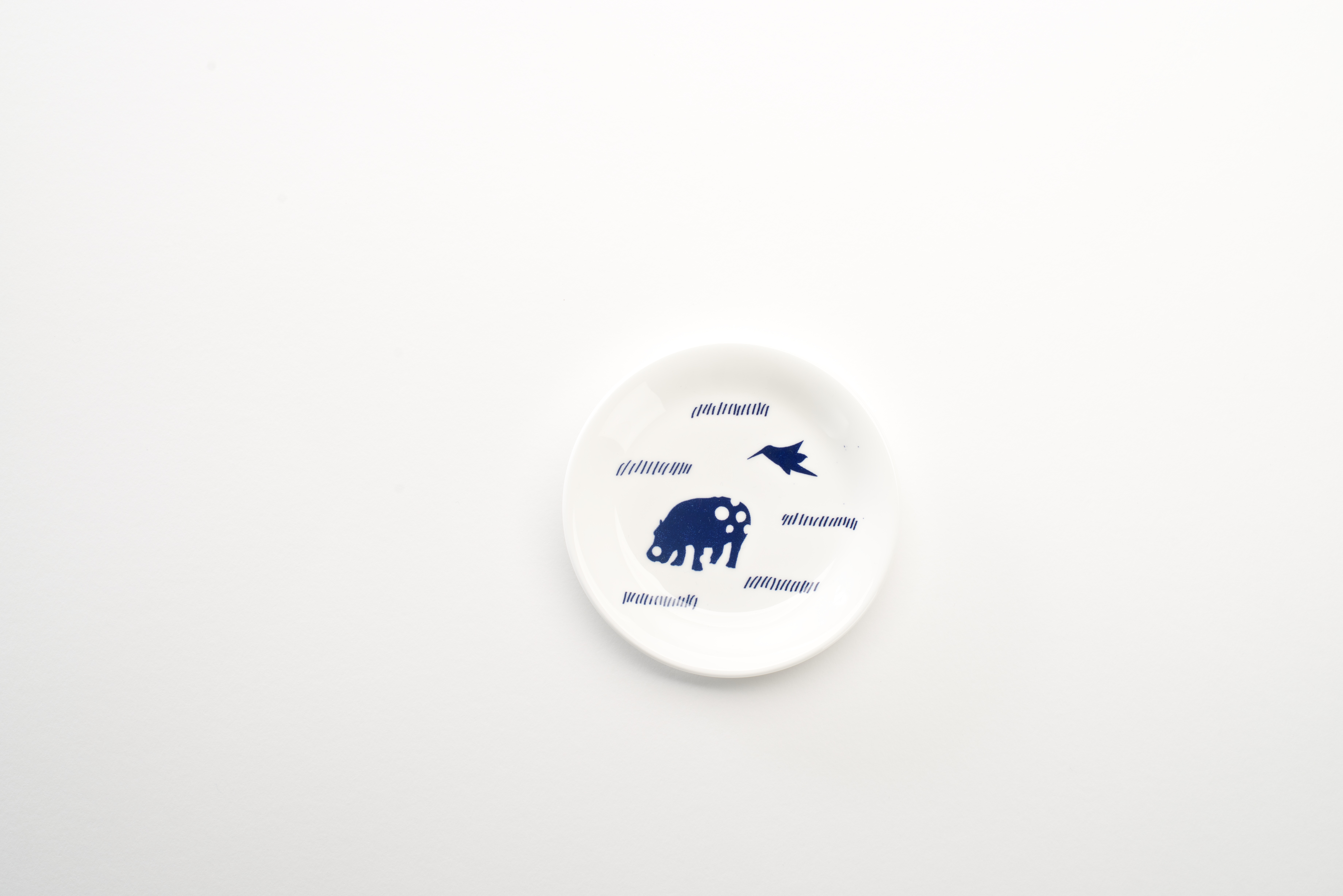 Hippo Bird Small Plate