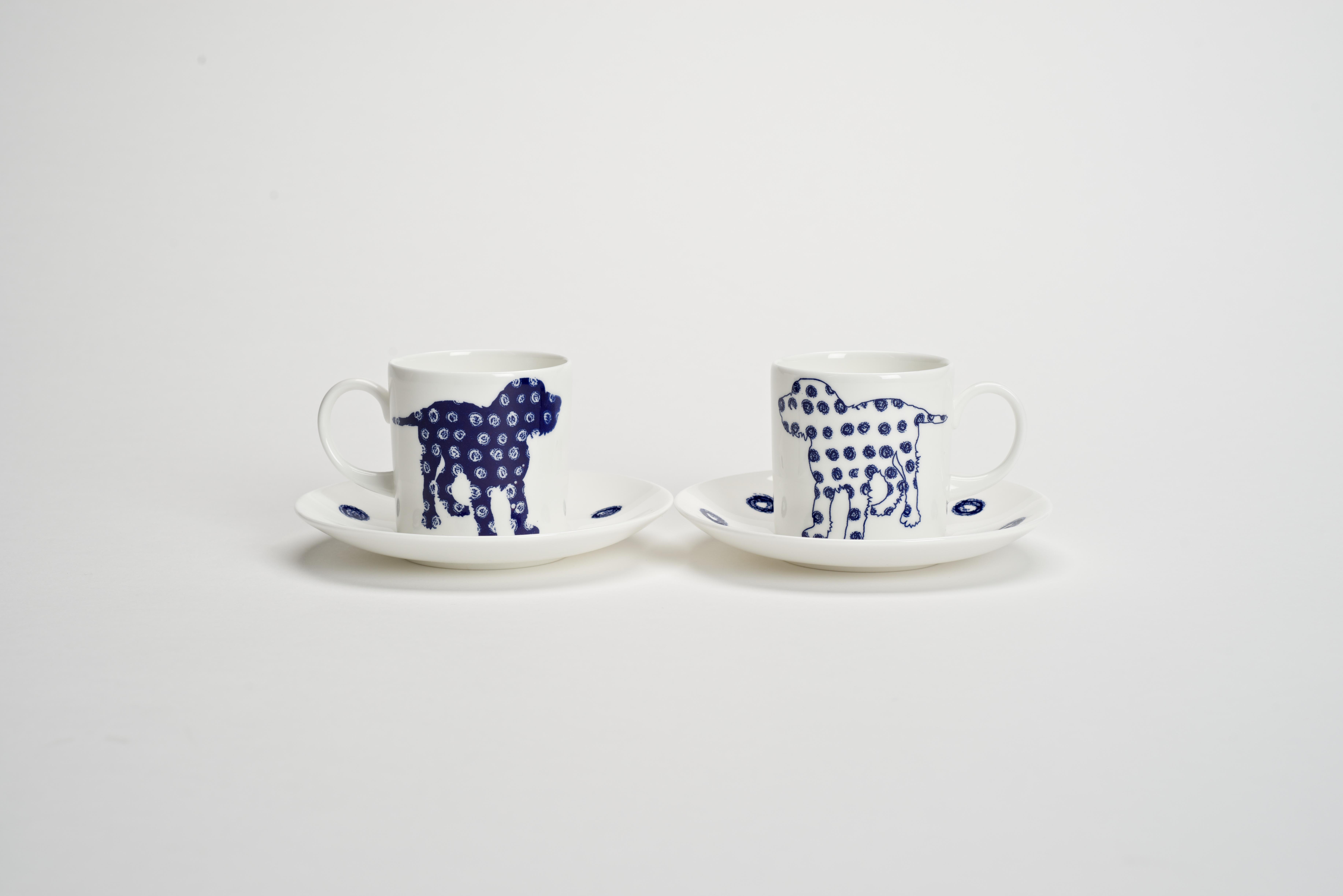 Pair Dog Coffee Cups
