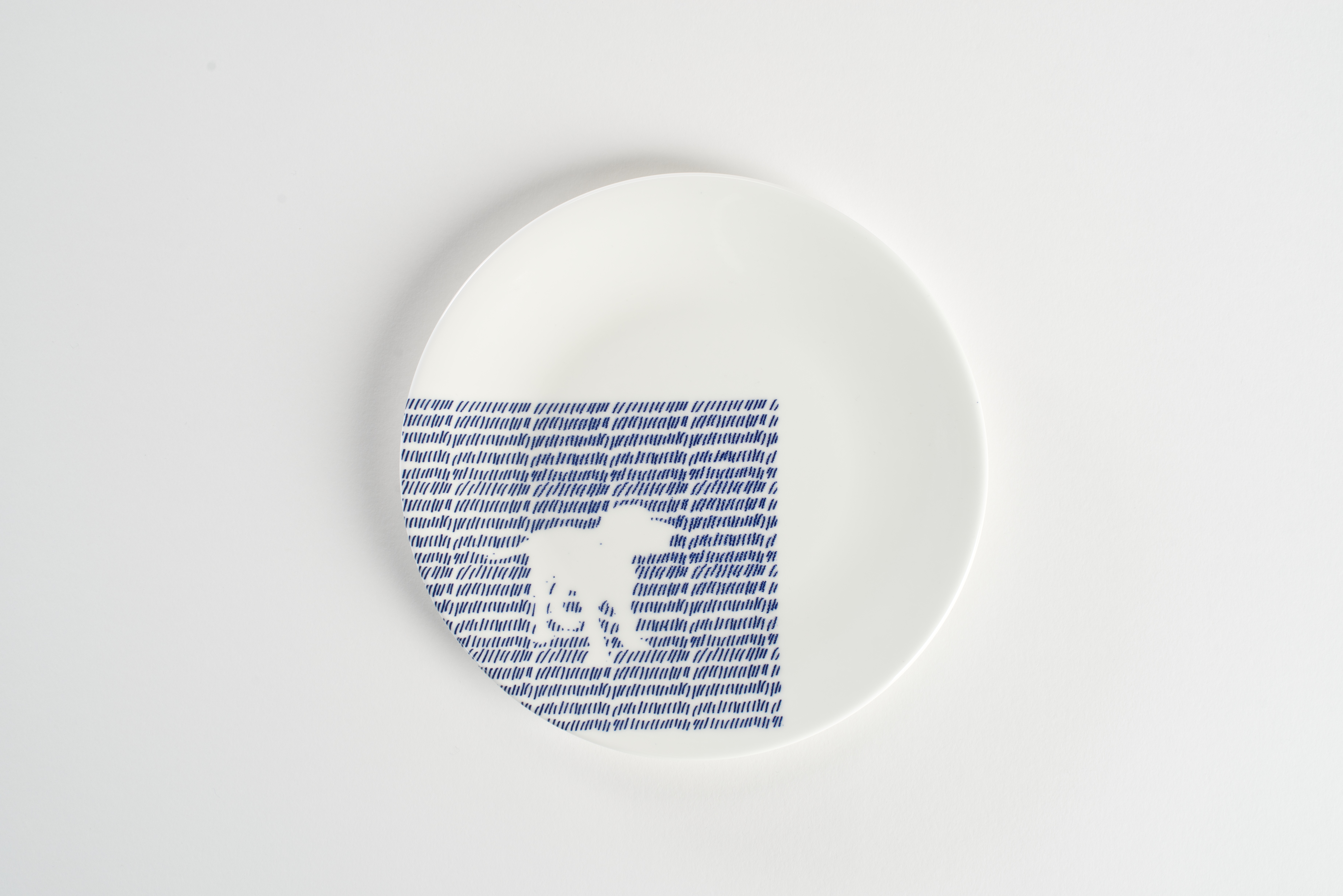 White Dog Side Plate