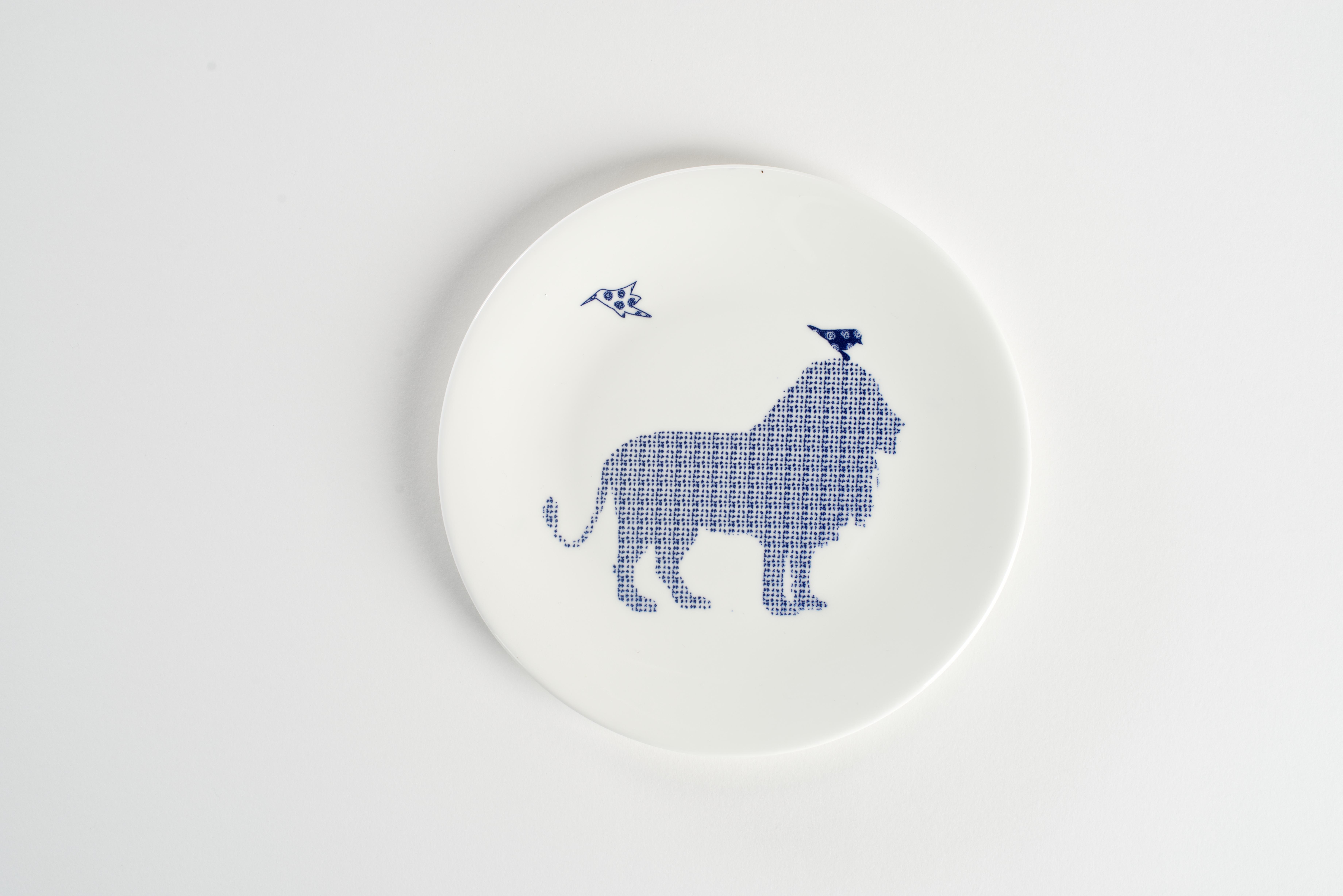 Lion Birds Plate