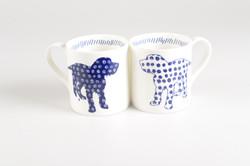 Pair Dog Mug Cups