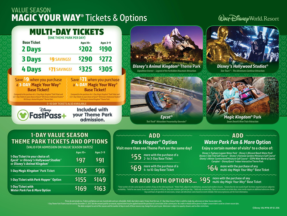 Value Season Magic Your Way Tickets & Options