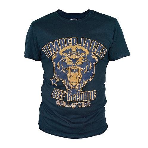 T-Shirt Mountain Lion Man Navy