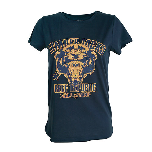 T-Shirt Mountain Lion Woman Navy