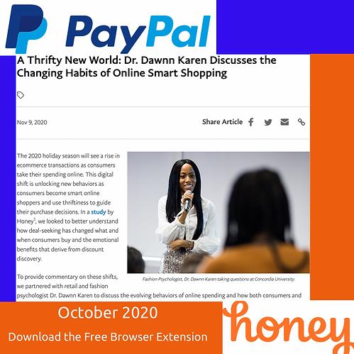 Paypal and Dawnn Karen