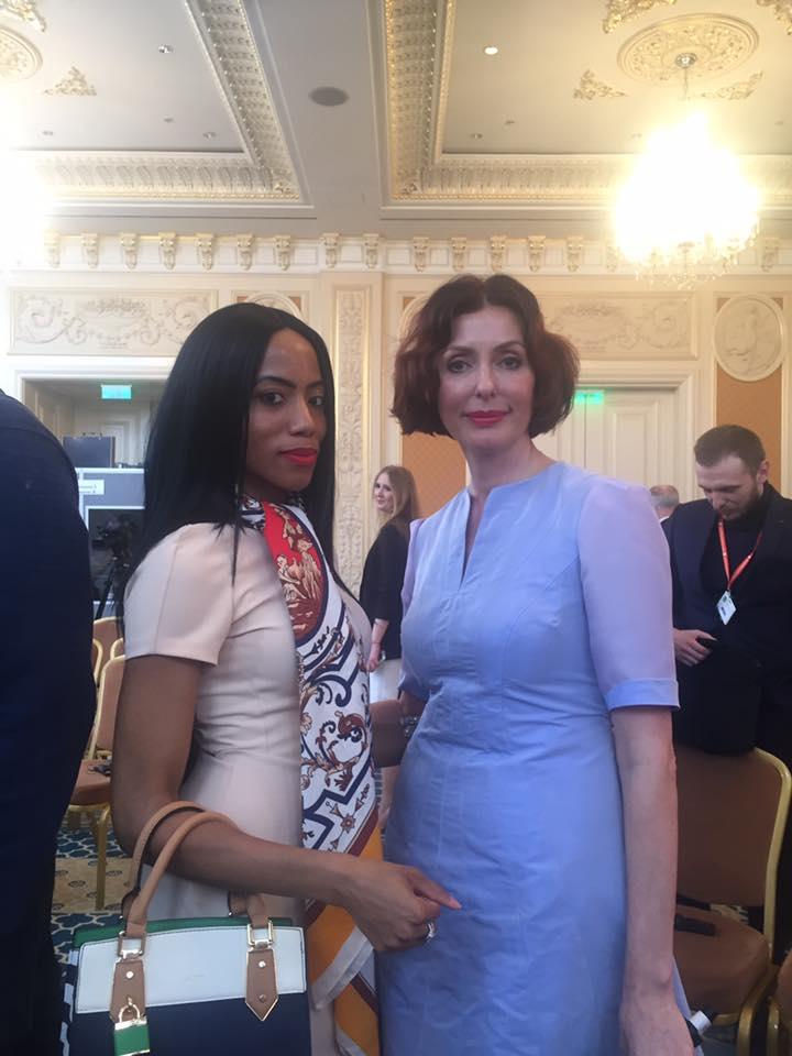 Fashion Psychologist Dawnn Karen with Former First Lady of Ukraine Teresa Yatensyuk