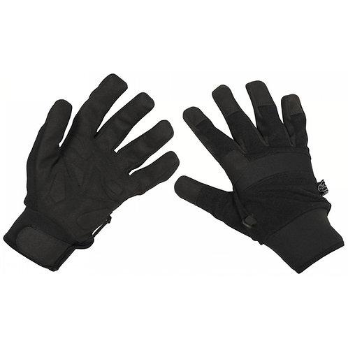 """Fingerhandschuhe, """"Security"""", schwarz"""