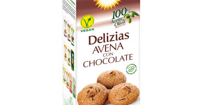 Galletas Delizias de avena con chocolate 125 gr