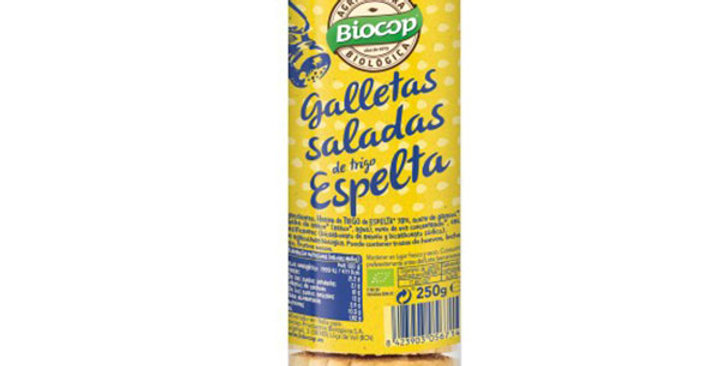 Galleta salada de trigo espelta Biocop 250 gr.
