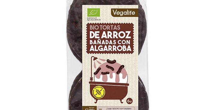 Bio Tortas de arroz bañadas con algarroba Vegalife 100 gr.