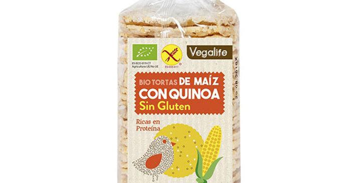 Tortas de maíz con quinoa sin gluten Vegalife 120 gr.