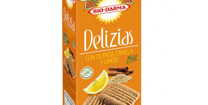 Galletas Delizias con quinoa, canela y limón 125 gr.