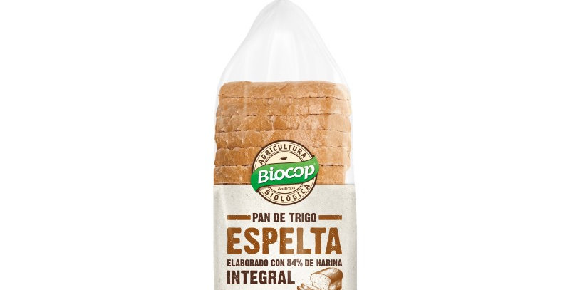 Pan de molde de trigo espelta integral Biocop 400 g