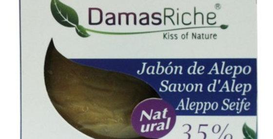 Jabón de alepo 35% pastilla Damasriche 200g