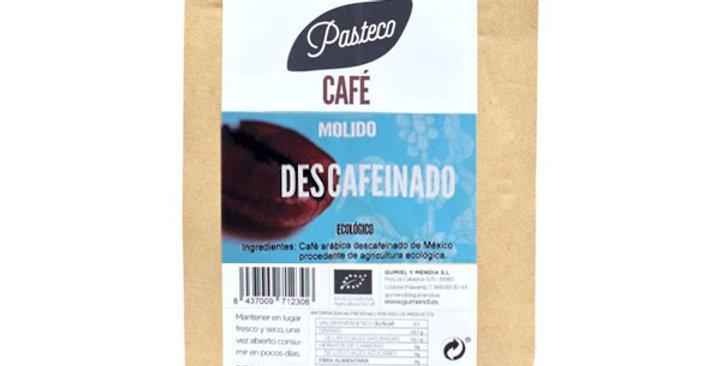 CAFÉ MOLIDO DESCAFEINADO PASTECO 250 GR.