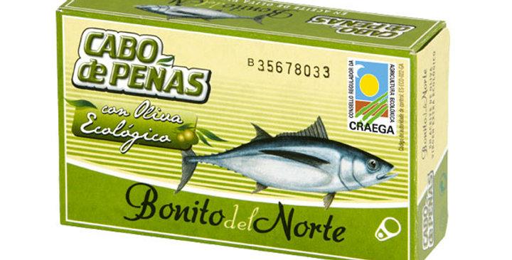 Bonito del Norte en Aceite de Oliva Eco , Cabo De Peñas 120 gr