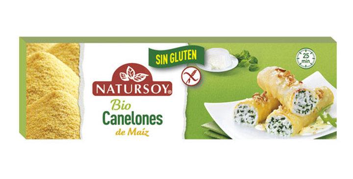 CANELONES DE MAÍZ SIN GLUTEN NATURSOY 250 GR.
