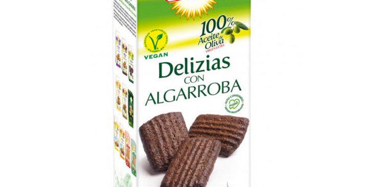 Galletas Delizias de algarroba 125 gr.