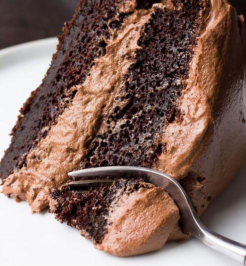 Tarta de chocolate vegana.