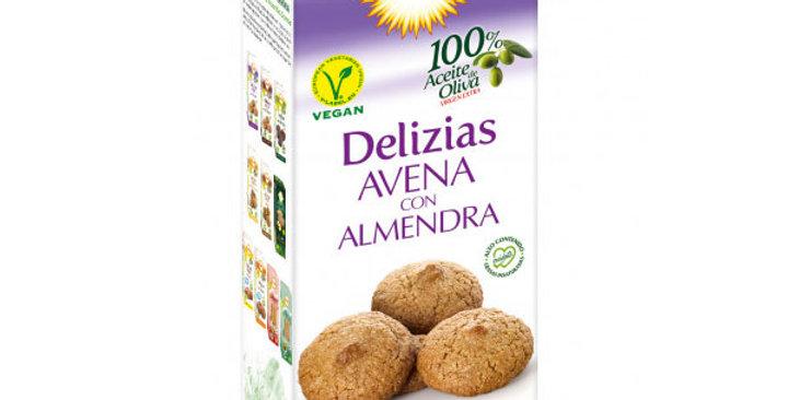 Galletas Delizias de avena con almendras 125 gr
