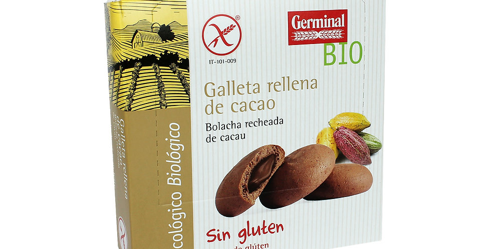 Galletas sin gluten rellenas Choco, Germinal
