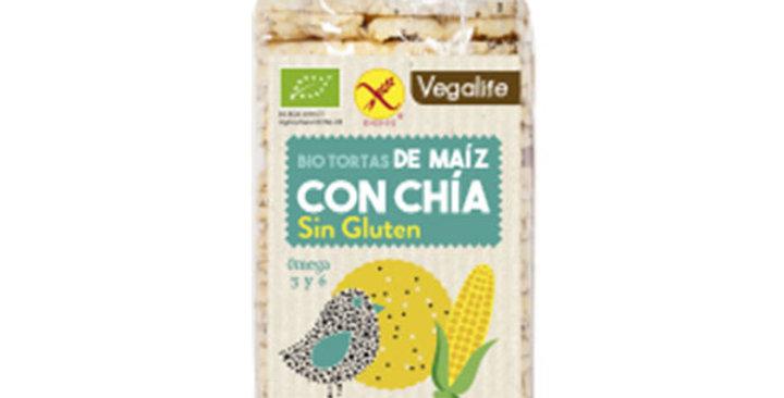 Tortas de maíz con chía sin gluten Vegalife 120 gr.