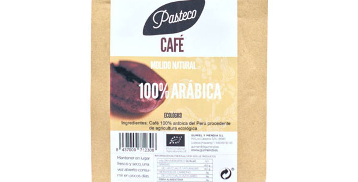 CAFÉ MOLIDO 100% ARABICA PASTECO 250 GR.