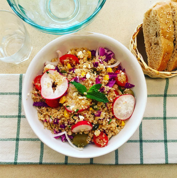 Ensalada de quinoa.