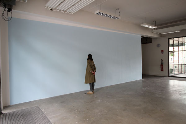 installation, louise porte, artiste, art contemporain, peinture murale