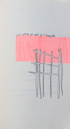 installation, louise porte, artiste, art contemporain, dessin