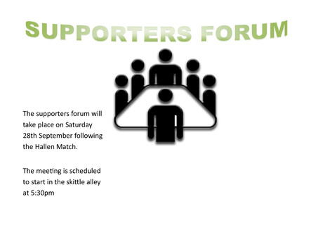 SUPPORTERS FORUM DATE ANNOUNCED