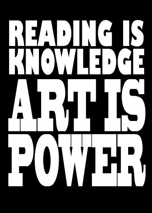 Art is power black on white