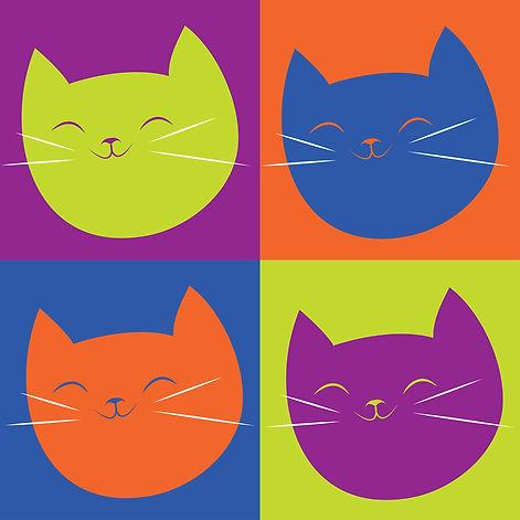 pop art cat face 1
