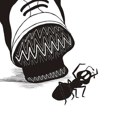 Ant in peril