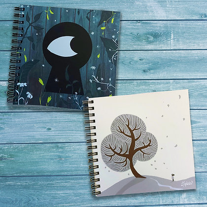 2 pack of nature inspired notepads