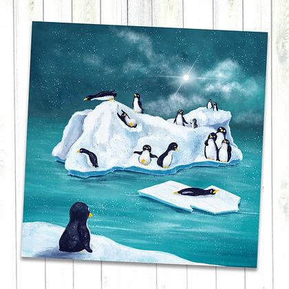 Penguin Island art print