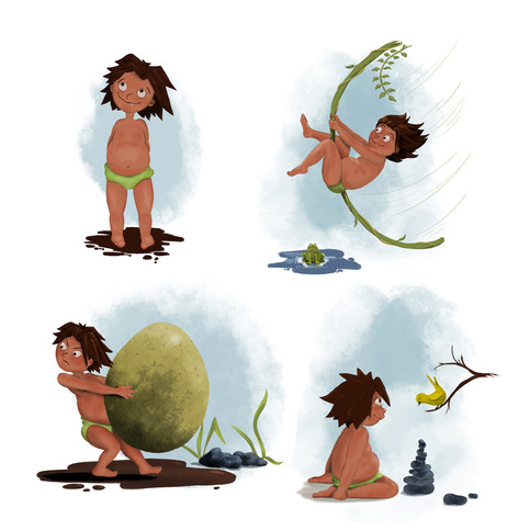 jungle boy character design