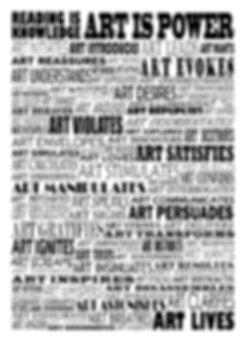ART IS POWER full manifesto