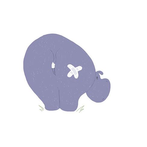 Hurt hippo
