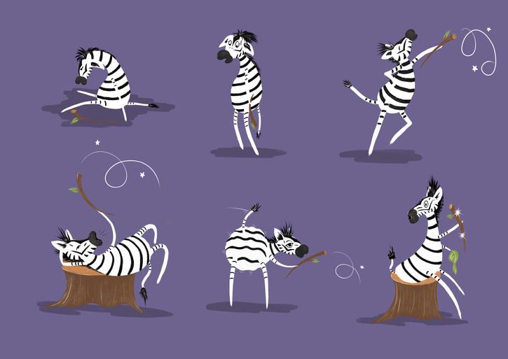 zebra character design