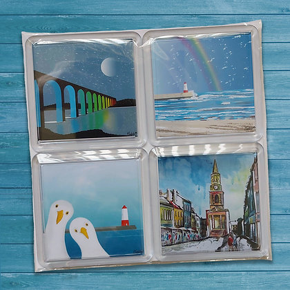 4 pack of acrylic coasters