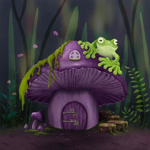 Frog on a shroom