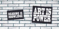 Art is power banner