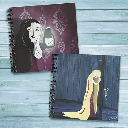2 pack of fairytale inspired notepads