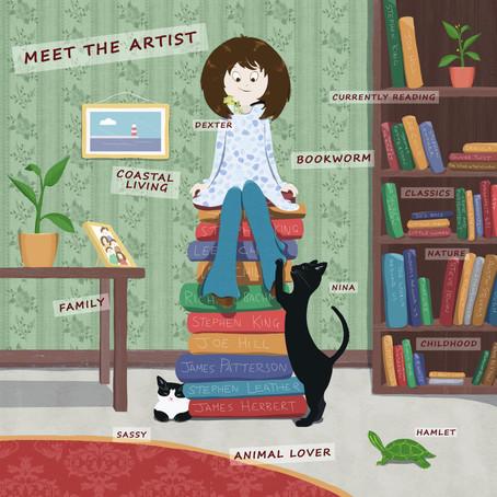 Meet the artist illo