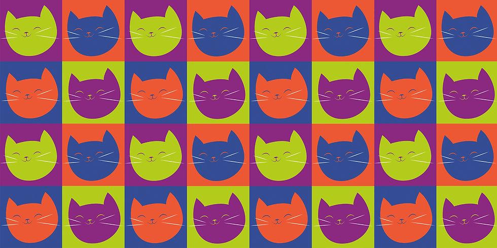 Pop art cat face